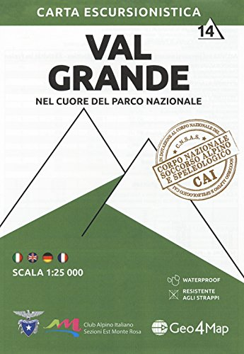 Val Grande 1 : 25.000: Nel Cuore Del Parco Nazionale - 4-track-lichter