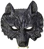 Famille Widmann 00456loup-garou Demi Masque en latex Taille Unique Adulte