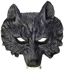 Idea Regalo - WIDMANN 00456 - Maschera da Lupo Mannaro in Lattice, Taglia Unica Adulto