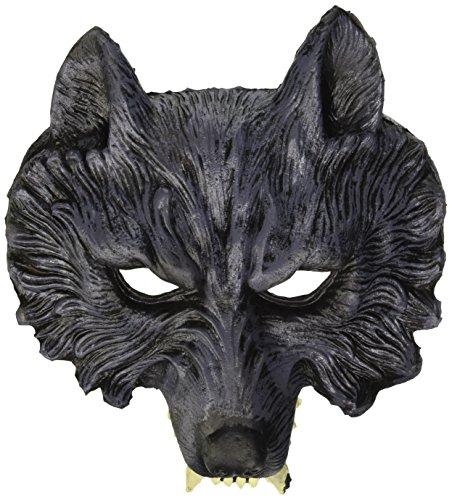 Widmann 00456 - maschera da lupo mannaro in lattice, taglia unica adulto
