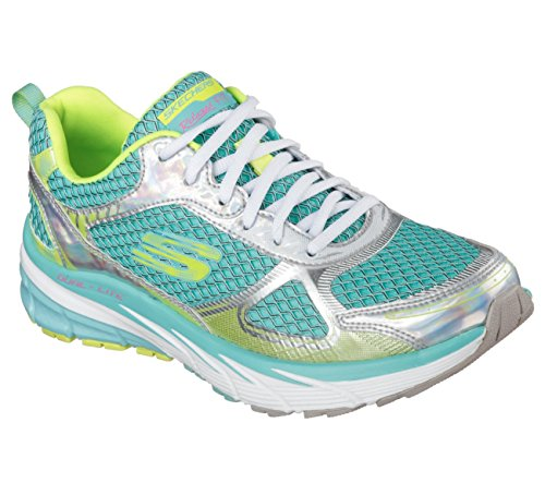 Skechers Coupe Décontractée Optimus Ricarica Baskets Femme Verde Acqua / Multicolore