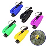 ROKOO 5 Stücke Mini Sicherheitshammer mit Schlüsselbund Gurtschneider Auto...