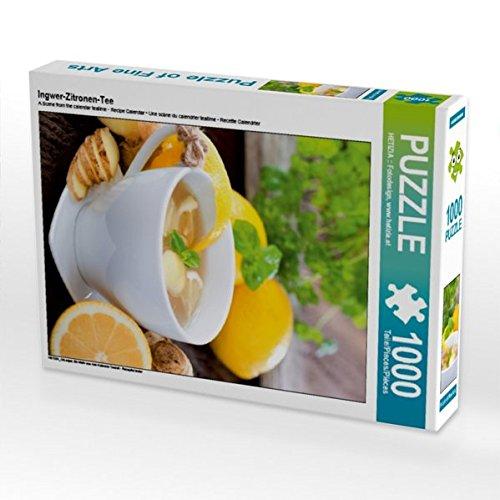 Ingwer-Zitronen-Tee 1000 Teile Puzzle hoch - Zitronen-kräuter-tee