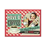 Nostalgic-Art 14283 Say it 50's Have A Coffee Magnet, 8 x 6 cm