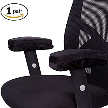 OOAGE Pack of 2pcs Jumbo Memory Foam Arm Rest fice Chair Arm puter Pads Universal Cushion Covers for Armrest and Elbow Relief