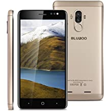 "Bluboo D1 - 3G Smartphone Libre (Android 7.0,5.0"" FHD Pantalla, Resolución 1280*720,MTK6580A Octa Core 1.5GHz,2Gb Ram 16GB ROM,Dual Sim, Cámara Dual 8MP + 5MP,2600mAh Batería) (Dorado)"