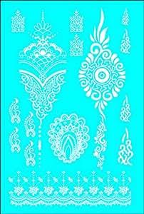 wei e spitze tattoo zum kleben henna style n10 white lace tattoo henna f r hand arme k per. Black Bedroom Furniture Sets. Home Design Ideas