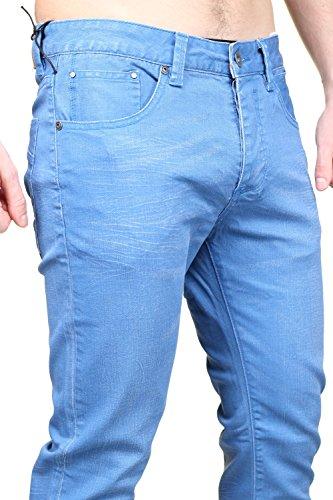 Kenzarro - Jeans Sh-16021 Bleu Bleu