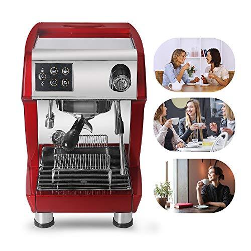 Trustme 3200B Einzelhandelsgruppe Espressomaschine Cappuccino mit importierter Wasserpumpe, 3000 W,...