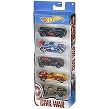 Hot Wheels Capitán América Civil War pack 5 (Mattel DRB89)