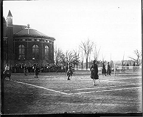 POSTER Women playing tennis at Western College n.d. 3967 Women's education Sports Universities and colleges Tennis courts players Miami Wall Art Print A3 replica