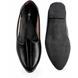 Zappy Men's Black Leather Jutis - 10 UK
