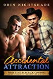 Accidental Attraction: A Straight to Gay First Time MM Romance (First Time Bareback Cowboys Book 2)