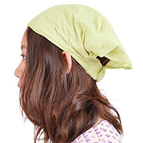 Casualbox Damen Baumwolle Bandana Schal Haar Band Kopf Abdeckung elastisch Lime Green (Schal Band)