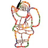 WeRChristmas Santa Rope Lights Silhouette Christmas Decoration, 41 cm - Large, Multi-Colour