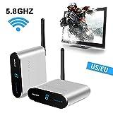 measy AV530 5.8 GHz 8 canali Wireless Audio / Video Sender Trasmettitore e ricevitore Extender AV per streaming via cavo, satellite, DVD