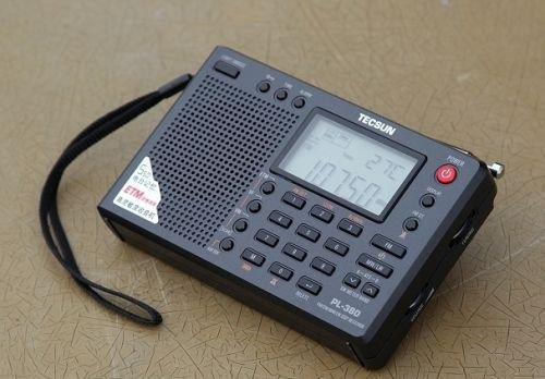 TECSUN PL-380 FM Stereo MW. SW. LW. DSP mit ETM PLL World Band Radio Receiver Weltempfänger Kabel und Antenne LCD Display.