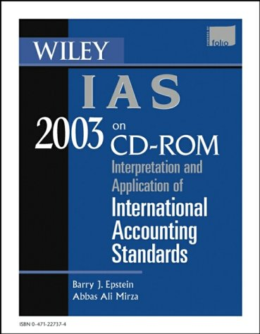 Wiley IAS 2003, CD-ROM Interpretation and Application of International Accounting Standards2003