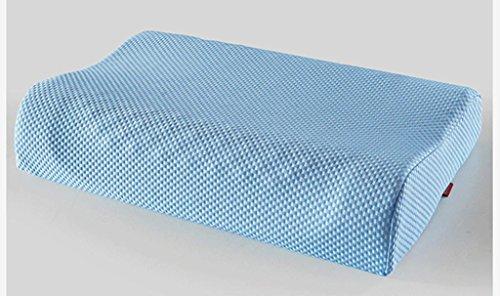 Preisvergleich Produktbild MNII Natürliche Watte Tuch Latexkissen Gesundheit Massage Kissen Kissen-Kern Partikel Kissen Zervikale ,  blue
