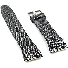 Fatetec Pulsera de reloj de silicona correas de banda de reemplazo para Samsung Galaxy Gear Fit 2 SM-R360 Reloj de pulsera inteligente (Cross)