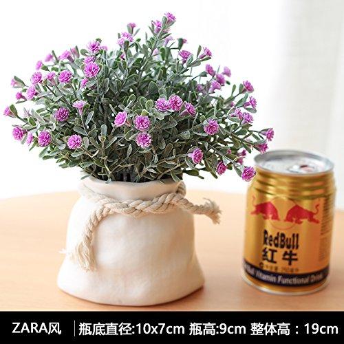 Self-My Künstliche Blumen Emulation Pflanzen Der Nordischen Home Wohnzimmer Tisch Desktop Kleine Topfpflanzen Blumenschmuck Der Swing-Style Einrichtung G Gefälschte Blumen (Silk Tisch-pflanzen)