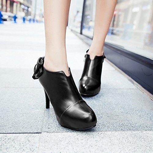 Zapatos Misssasa Para Mujer Con Tacón Alto Y Elegante Y Clásico Negro
