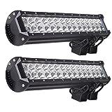 Kohree 2X 90W LED Phare de travail Noir feux WorkLight Phares de voiture tout-terrain supplémentaires l'éclairage des travaux tout-terrain