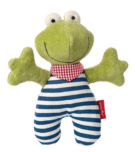 sigikid, Mädchen und Jungen, Greifling Frosch, Natural Love, Grün/Blau, 41353