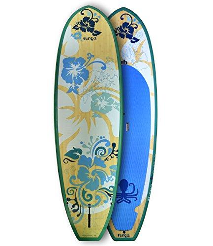 RUNGA PUAAWAI Bamboo 9.5 Stand UP Paddle Board SUP HARDBOARD Hard Board Bamboo Paddle Board
