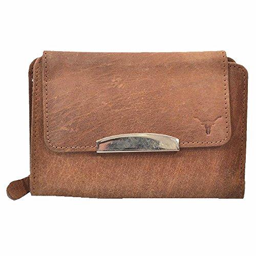 Hidekraft Womens Brown Leather Wallet/Purse