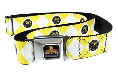 Power rangers-logo Ranger Gürtel für Erwachsene in Diamanten-Form-Sicherheitsgurt, Gelb