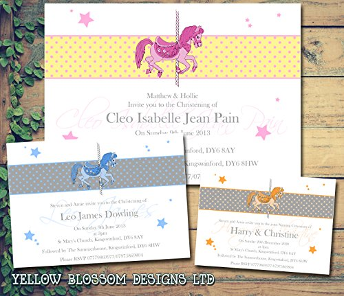 20 Personalised joint Christening invitations boy girl Naming day photo