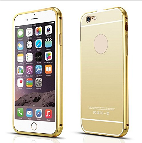 K/B Luxury Mirror Effect Acrylic back + Metal Bumper Case Cover for Apple Iphone 5/5s/Se - GOLD  available at amazon for Rs.225