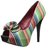 Pinup Couture - zapatos de tacón mujer, color multicolor, talla 37.5