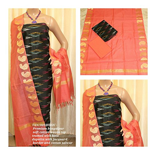 Avni Fashion Premium Bhagalpur Soft Cotton woven Top teamed with Kota Dupatta...