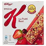 Kellogg's Barrette di Cereali con Frutti Rossi - 6 Pacchetti