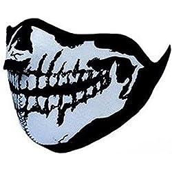 "Masque Protection Demi Cagoule Neoprene ""Ghost Tete de mort - Skull"" - Réglable par Velcro - Airsoft - Paintball - Ski - Snow - Surf - Moto - Biker - TMax"