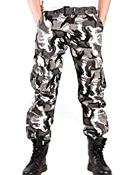 HAHOME Homme Combat Pantalons Treillis Militaire Camouflage Cargo Armee Multi Poches