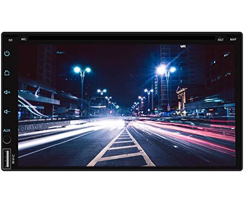 Tristan Auron BT2D7018A-DVD Android 9.0 Autoradio mit Navi I 7'' Touchscreen Monitor I Bluetooth Freisprecheinrichtung I Quad Core CD DVD GPS USB SD OBD 2 DAB+ fähig - Doppel Din