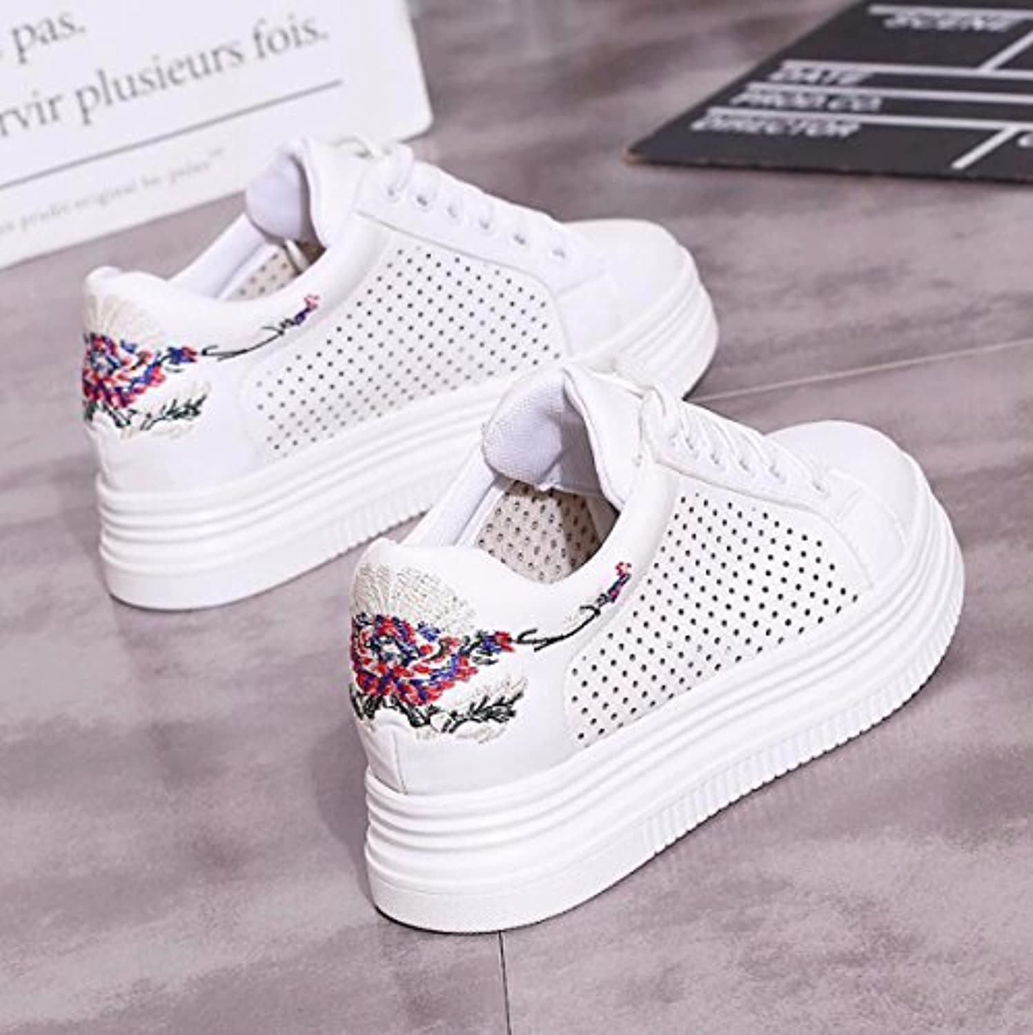 df8156690e894 KPHY Women s Women s Women s shoes new Women Summer Wild Hollow Increased  Breathable Leisure Students Sports Board Shoes. B07DH5Y5NQ Parent b76f1a