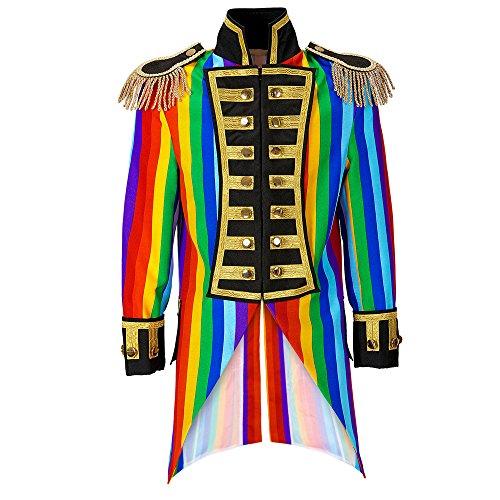 (Widmann 59334 Herren Frack Rainbow Parade kostüm, XL)