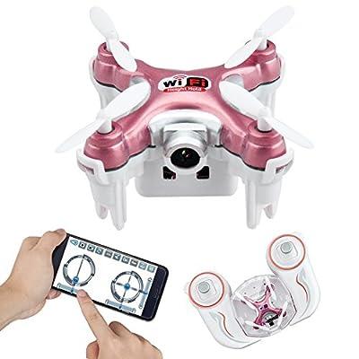 Wifi FPV Mini Drone With Camera, Yunshangauto CX-10WD-TX Remote Control Nano Quadcopter 3D Flips, High/Low Speed, High Hold Mode, One Key Return Nano RC Quadcopter