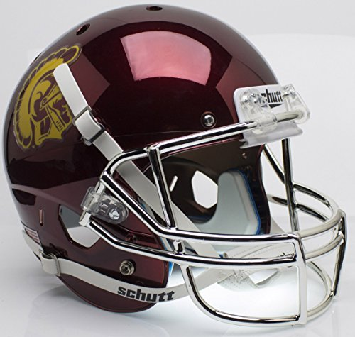 Schutt USC Trojaner Chrom Replica Full Size Football Helm