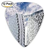 Blue Sky And White Clouds Sky Hotel Guitar Pick 12pack