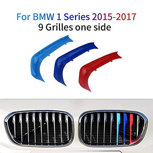 M-Colore Franjas Decorativas para Parrilla Delantera para 1 Series 116i 118i 120i 2015-2017 3 Piezas (9 Varillas)