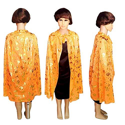 (CHIRORO Kinder Halloween Umhang,Halloweenkostüm Umhang Teufel Vampir Cape Für Cosplay Halloween Kostüm Kürbis Spinne Muster, Design 4)