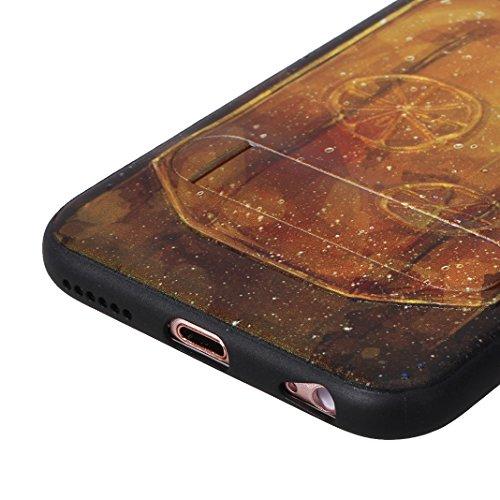 """Coque iPhone 6/6S Plus 5.5"""" Étui avec Supporter Kickstand, Moon mood® Hybride Coque en Silicone TPU Bumper et Plastique PC Rigide Arrière Étui pour Apple iPhone 6 Plus Housse de Protection Couverture  Style 10"""