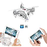 GoolRC Cheerson CX-10WD-TX Drone Mini con Cámara 0.3MP Wifi FPV 3D Eversión 2.4GHz 4 Canales 6-axis