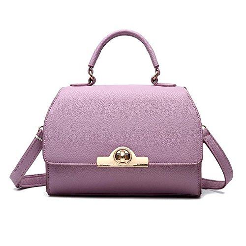 HQYSS Borse donna In pelle coreana PU Croce corpo donna tracolla Messenger Handbag , black purple taro