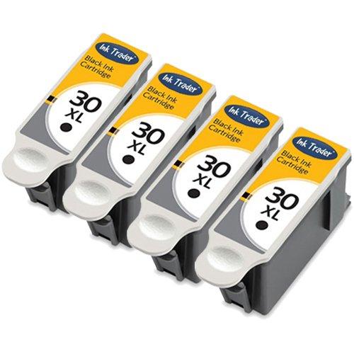 4x-kodak-30xl-high-capacity-compatible-black-printer-ink-cartridges-for-use-with-kodak-esp-12-32-c10